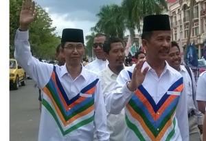 Masyarakat kota batam memeriahkan kemenangan Rudi-Amsakar sebagai Calon Walikota-Wakilwalikota batam.